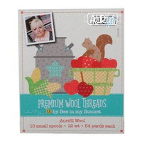 Aurifil 12wt, Premium Wool Thread Collection - 10 Spools (54yds)