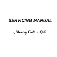 Service Manual, Janome MC5700
