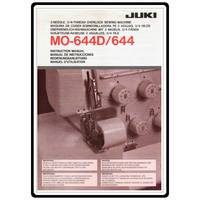 Instruction Manual, Juki MO-644D