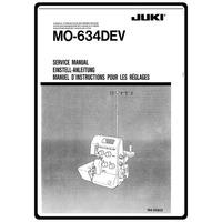 Service Manual, Juki MO-634DEV