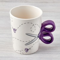 Purple Scissor Sewing Mug