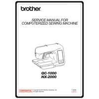 Service Manual, Brother NX2000