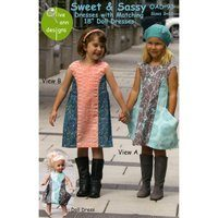 Sweet and Sassy Dress Pattern with Matching Doll Dress