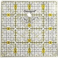 "4"" Square Ruler w/ grid, Omnigrid"
