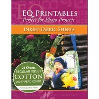 Printables Regular Cotton Fabric Sheets, 25 Pack