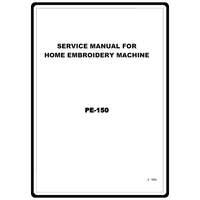Service Manual, Brother PE150