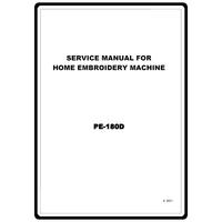 Service Manual, Brother PE180D