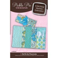Roll and Go Placemats Embroidery CD - Pickle Pie Designs
