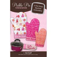 Hot Stuff Oven Mitts Embroidery CD - Pickle Pie Designs