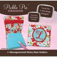 Monogrammed Sticky Note Holders Embroidery CD