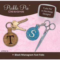 Monogrammed Fast Fobs Embroidery CD - Block Letters