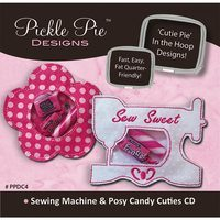 Sewing Machine and Posy Candy Cuties Embroidery CD