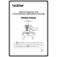 Service Manual, Brother PR-620