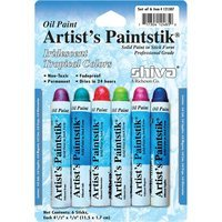 Shiva Artist Paintstick Set, Iridescent Tropical Colors - 6pk