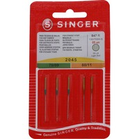 "Singer Needle Assortment  Yellow Tip (3-9"", 2-11"")"