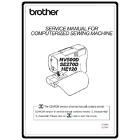 Service Manual, Brother SE270D