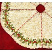 Holly and Berries Tree Skirt Pattern