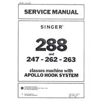 Service Manual, Singer 288