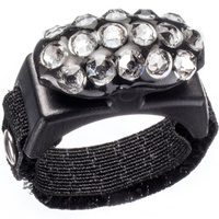 Thread Cutterz Adjustable Ring with 3 Rows of Swarovski Crystals
