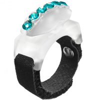 Thread Cutterz Adjustable Ring w/ Swarovski Crystals