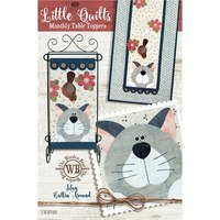 Monthly Table Topper and Wall Hanging Pattern, May Catting Around