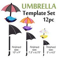 Umbrella Template Set (12pc), Martelli