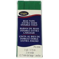Bias Tape, Extra Wide Double Fold, Wrights #W206