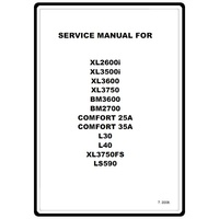 Service Manual, Brother XL3500i
