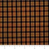 Homespun Yellow and Blue Checkered Fabric