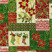 Paintbrush Prints, Tis the Season, Patchwork Christmas Fabric
