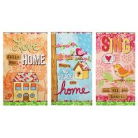 Red Rooster Prints, No Place Like Home Fabric Panel