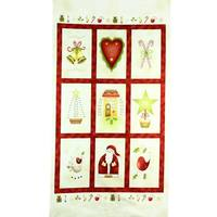All Things Christmas Fabric Panel, Red Rooster Prints