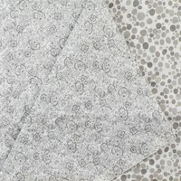 Reversible, Pre-Quilted Fabric, Dots, Grey