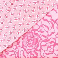 Reversible, Pre-Quilted Fabric, Pink