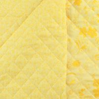 Reversible, Pre-Quilted Fabric, Floral, Yellow