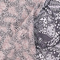 Reversible, Pre-Quilted Fabric, Black and White