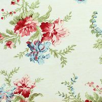 Jardin Fleur Fabric, Red Rooster Prints