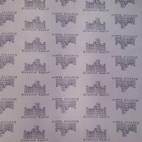Downton Abbey Logos and Labels Fabric, Grey