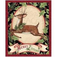 Woodland Deer Christmas Fabric Panel - 36in