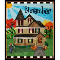 Holiday Houses, Block of the Month Pattern, November