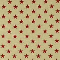 "108"" Quilt Backing, Large Antique Stars Fabric, Red"