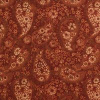 "108"" Quilt Backing, Floral Paisley Fabric, Rust"