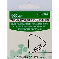Clover Triangle Tailor's Chalk, Blue