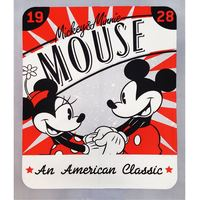 Disney, American Classic Fabric Panel, Mickey & Minnie Mouse