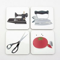 Sewing Coasters, Set of 4