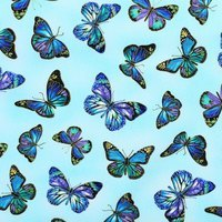 Timeless Treasures, Enchanted, Butterfly Fabric, Sky