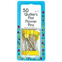 Flat Flower Head Pins - 50pk - Assorted Colors