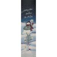 Bright Snowman Tapestry Fabric Panel