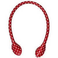"Inazuma 16"" Polka Dot Faux Leather Purse Handles"