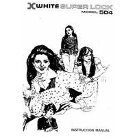 Instruction Manual, White 504